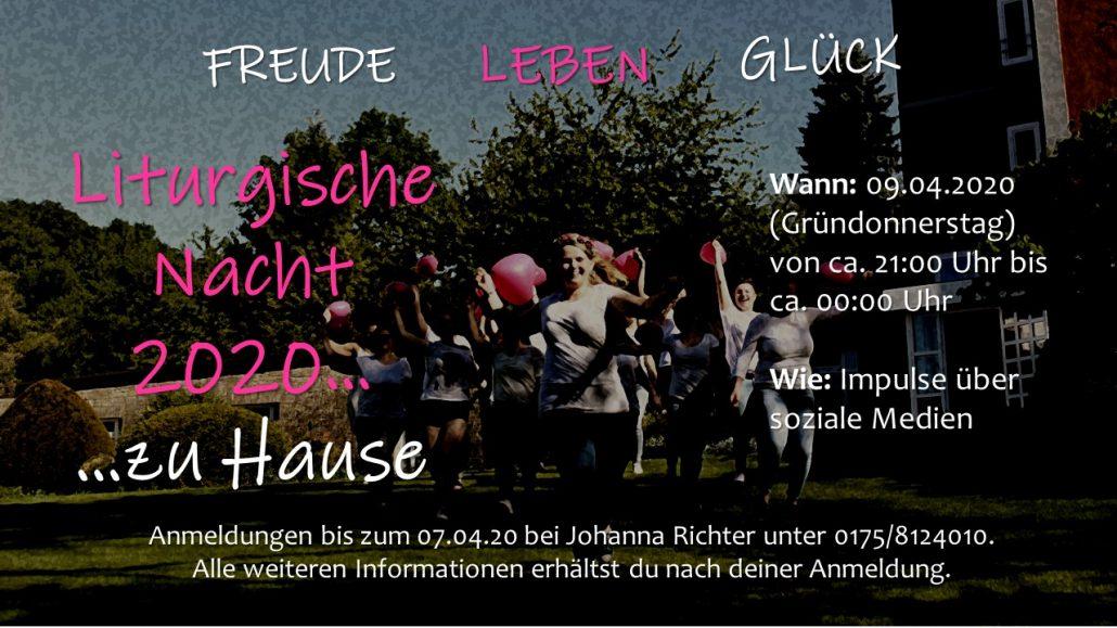 Flyer/Anmeldung Liturgische Nacht 2020